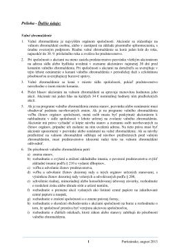 Príloha - Ďalšie údaje: - Vipo a.s., Partizánske