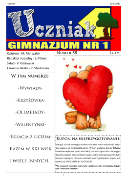 luty 2012 - Gimnazjum Nr 1 w Konstantynowie Łódzkim