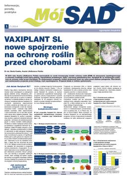 VAXIPLANT SL nowe spojrzenie na ochronę roślin przed chorobami