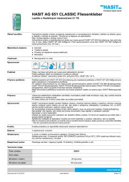 HASIT AG 651 CLASSIC Fliesenkleber