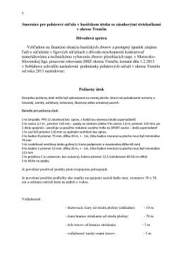 smerníc schválených pre rok 2013
