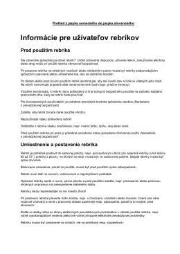 Benutzerinformation Leitern