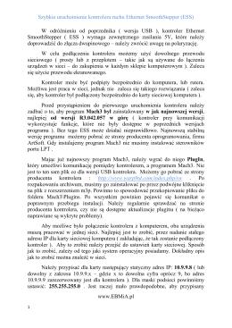 Skrócona instrukcja obsługi ESS_PL