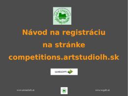 Registrácia používateľa