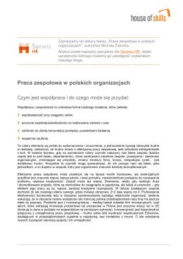Praca zespołowa w polskich organizacjach