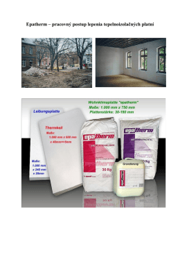 Epatherm – pracovný postup lepenia tepelnoizolačných platní