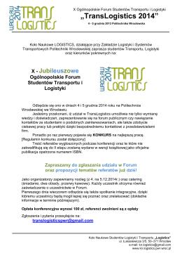 Zaproszenie - translogistics.pl