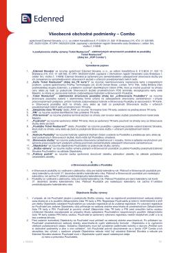 Všeobecné obchodné podmienky – Combo