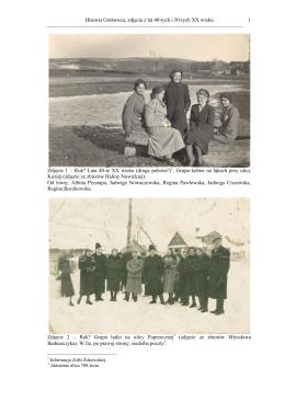 Historia grabowca, zdjęcia z lat 40 i 50 tych XX wieku
