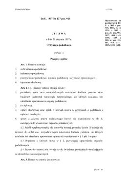 Ordynacja podatkowa - Internetowy System Aktów Prawnych