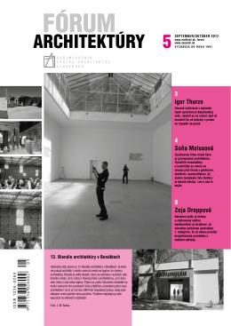 6 fórum archItektúry - Spolok architektov Slovenska