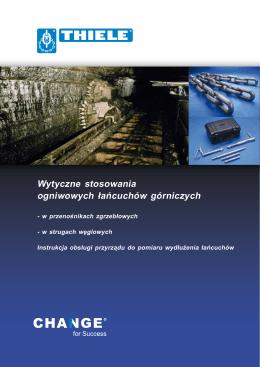 Wytyczne stosowania ogniwowych łańcuchów górniczych