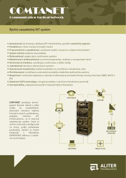 COMTANET ® Rýchlo nasaditeľný IKT systém (produktový