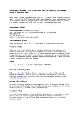 Úplné pravidlá Electrolux SK