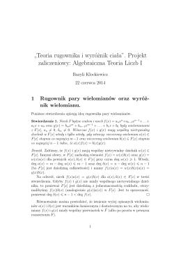 Teoria rugownika i wyróznik ciała (B. Klockiewicz)