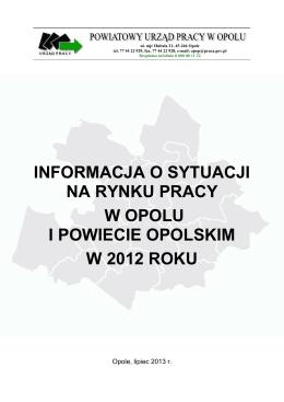 Informacja roczna za 2012 rok