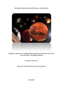 Projekt Slnečná sústava