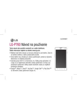 LG-P760 Návod na používanie