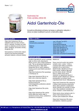Techn. List Aidol Gartenholz-Öle