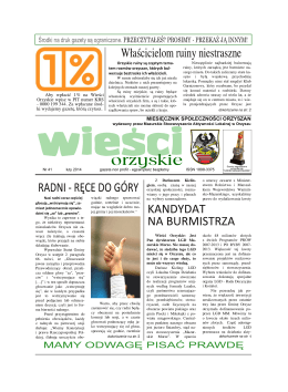 numer 41 - Mazurskie Stowarzyszenie Aktywności Lokalnej w Orzyszu