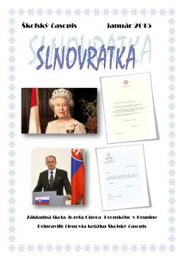 Školský časopis január 2015 - Základná škola J. C. Hronského