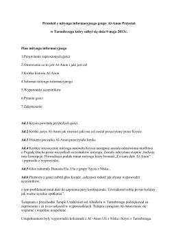 Protokół z mityngu informacyjnego grupy Al