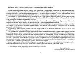 Dámy a páni, vážení návštevníci festivalu Jánošíkov dukát!