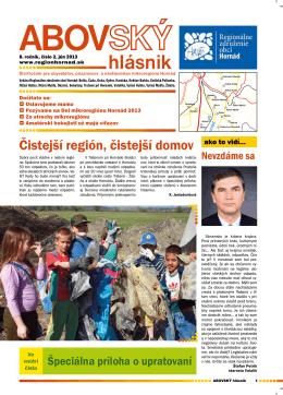 2/2013 - Regionálne združenie obcí Hornád