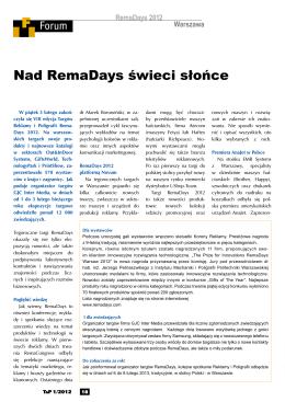 przeczytaj - Remadays Warsaw
