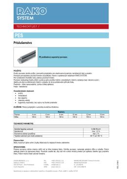 Separačný povrazec PES (pdf, 240 kB)