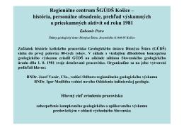 Regionálne centrum ŠGÚDŠ Košice