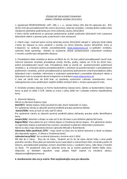 SkiJavorovica_V−EOBECNÉ OBCHODNÉ PODMIENKY 011213LP