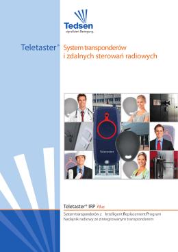 Teletaster® System transponderów i zdalnych sterowań