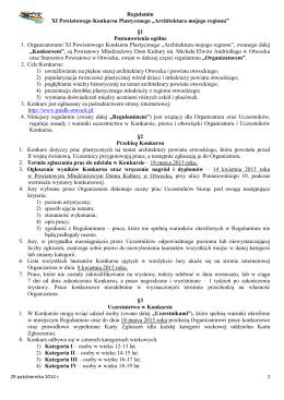 Regulamin XI Powiatowego Konkursu Plastycznego