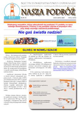 biuletyn 2/2014 - Stowarzyszenie Pomocy Chorym na GIST
