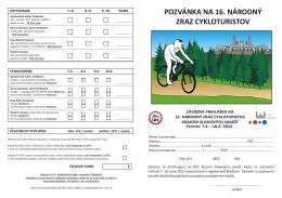 Pozvánka 16.národný zraz cykloturistov