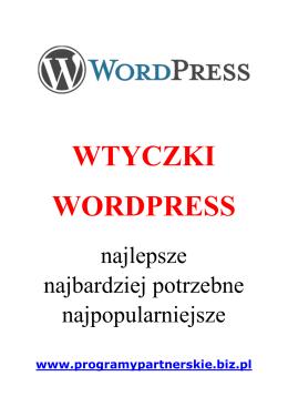 Wtyczki WordPress - Programy partnerskie i ebiznes