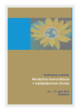 Materiály konferencie 2013