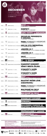 DECEMBER PROGRAM - Mestské divadlo Žilina