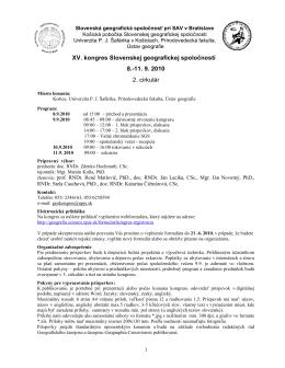 XV. kongres Slovenskej geografickej spoločnosti 8.