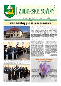 Zuberské noviny 2/2011 Formát PDF
