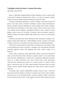 Typológia cechových zástav z územia Slovenska