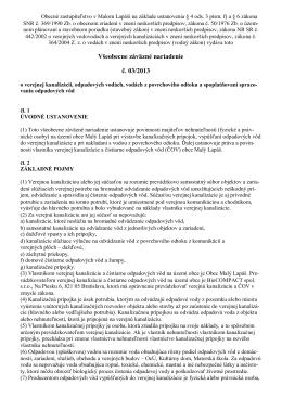 Všeobecne záväzné nariadenie č. 03/2013