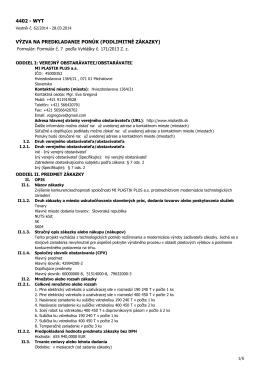 Výzva na predkladanie ponúk v PDF.