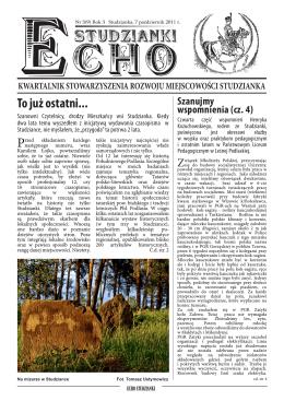 Echo Studzianki nr 9/2011