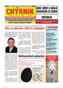 chýrnik - izamky.sk