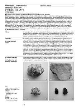 FUMA III: Mineralogická charakteristika stavebných