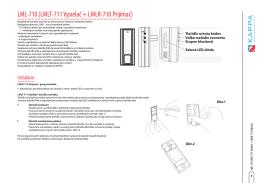 LML-710 (LMLT-711 Vysielač + LMLR-710 Prijímač