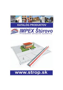 Kompletný katalóg produktov - Strop, Stropy