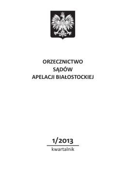 pobierz - Sąd Apelacyjny w Białymstoku